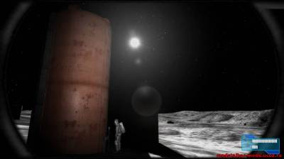 Сталкер полетел на ракете в космосе